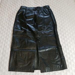 Vintage 90's Leather Midi Skirt